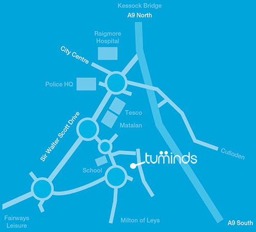 Tuminds Map Find Us