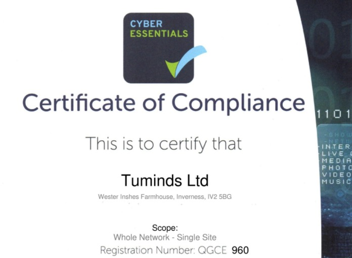 Cyber Essentials Certificate for Tuminds Social Media