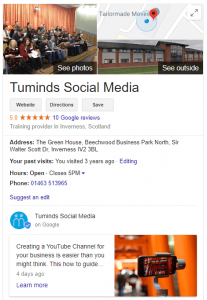 Tuminds Google Listing